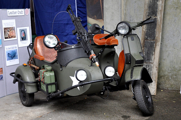 Scooter with Machine Gun and Sidecar