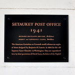 Setauket Post Office Plaque