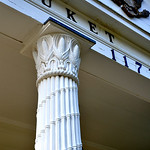 Cornstalk capital column Setauket Post Office