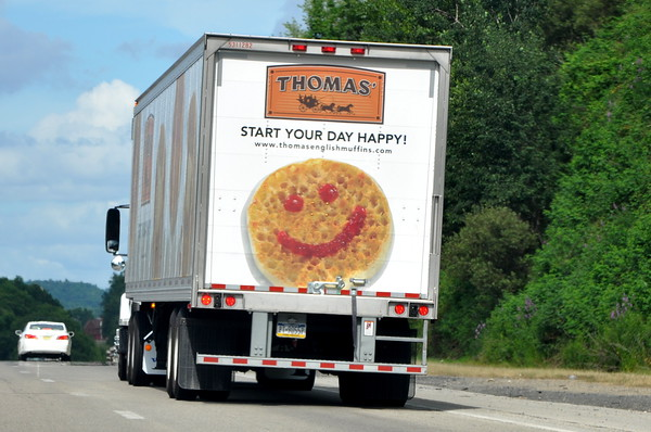 English Muffin Smiley Face Truck