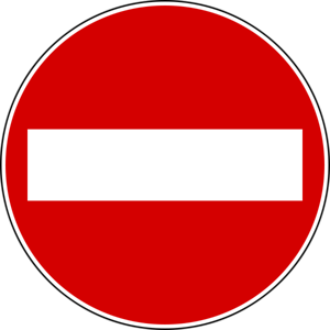 Italy - No Entry Road Sign