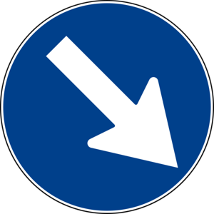 Italian road sign keep Right