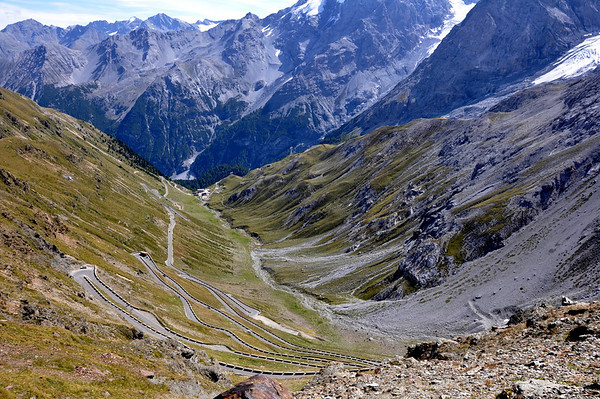 The North side of the Stelvio Pass Italy