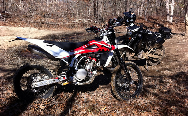 Husky TE 310 and DRZ 400