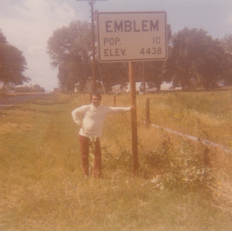 My Dad in Emblem, Wyoming - 1971