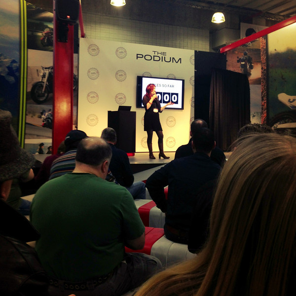 Lois Pryce Speaking at NYC Motorcycle Show