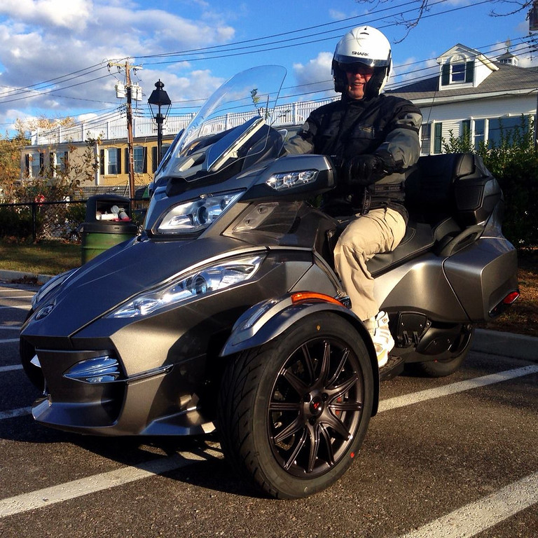 bill on his new canam spyder