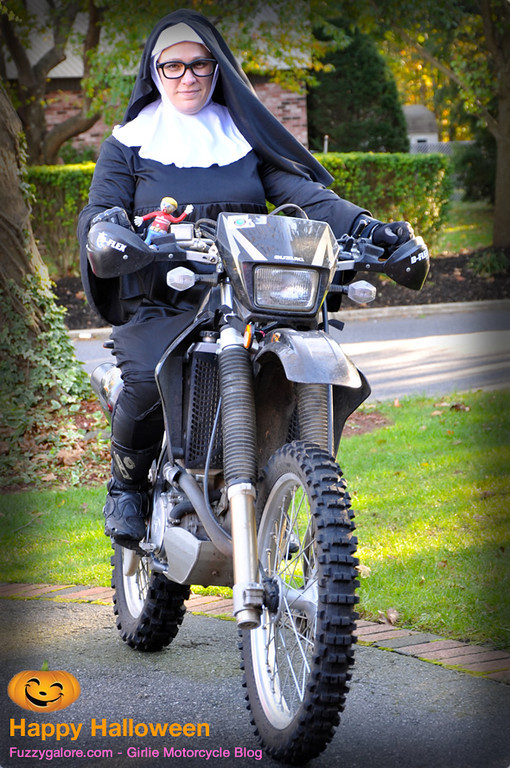 Happy Halloween from Fuzzygalore - Nun on a Motorcycle