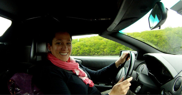 Big Cheesy Grin Behind the Wheel of the Murcielago LP640