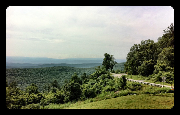 The view from an overlook on Route 39