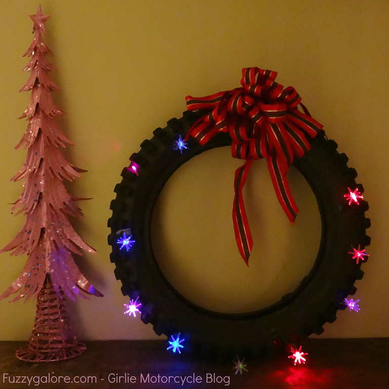 knobby tire christmas wreathe