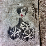 Bike chick street art san francisco