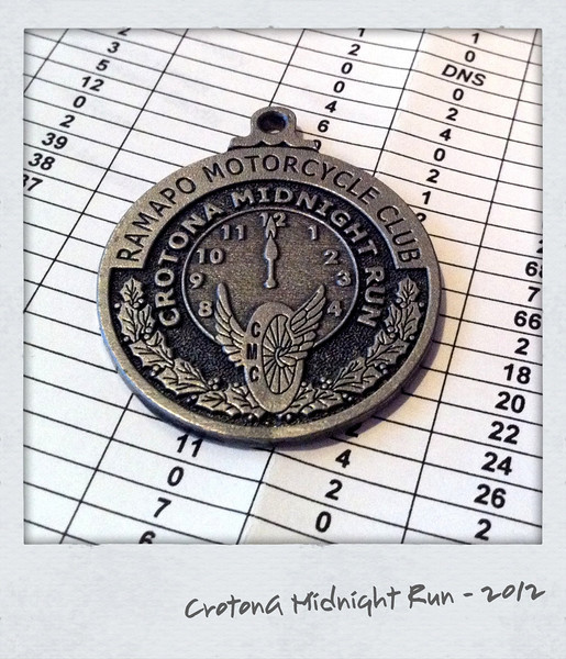 2012 Crotona Midnight Run Medallion