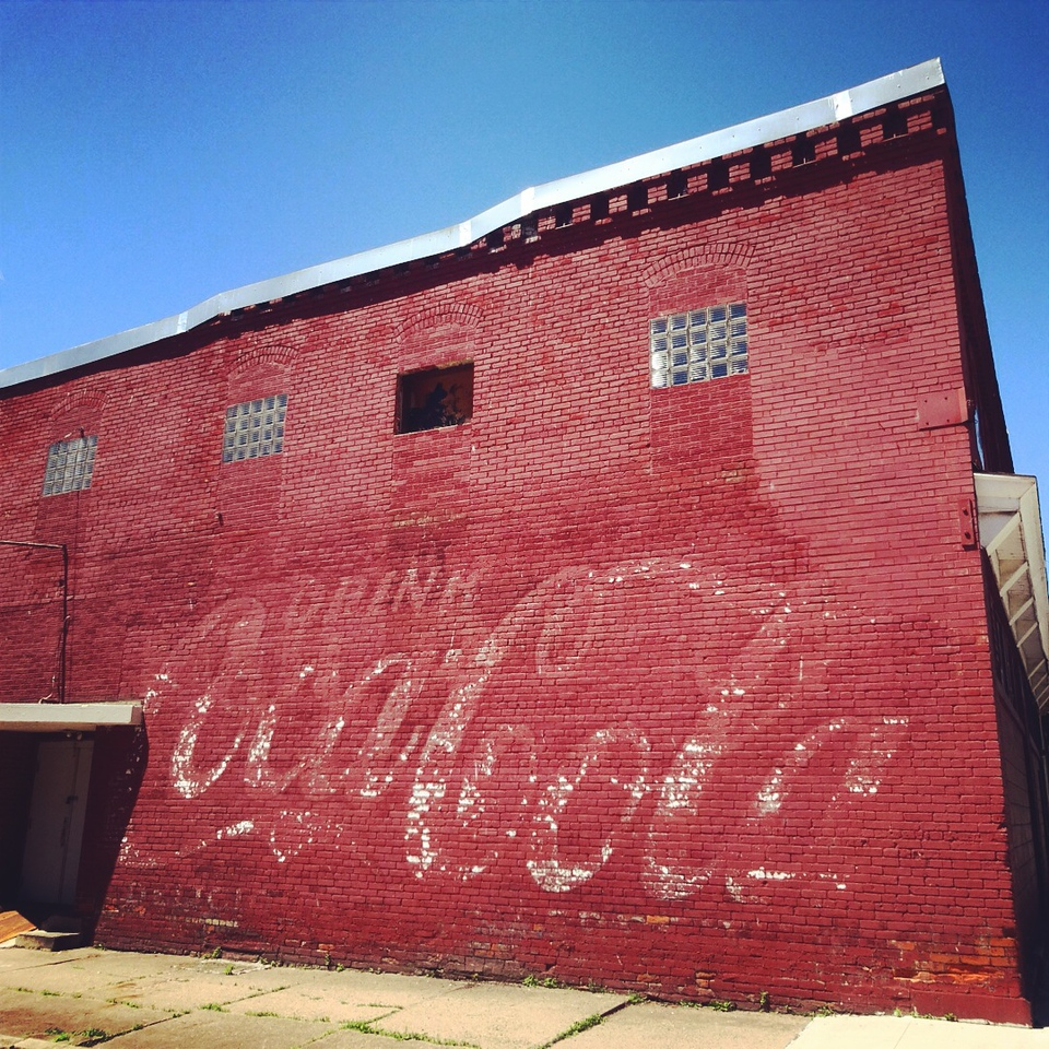 ghostsign coca-cola renovo pennsylvania fading ad