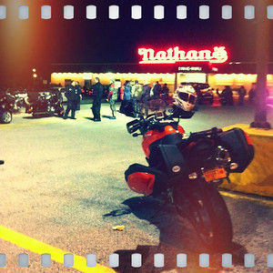 Tiger at Nathans for the Crotona Midnight Run