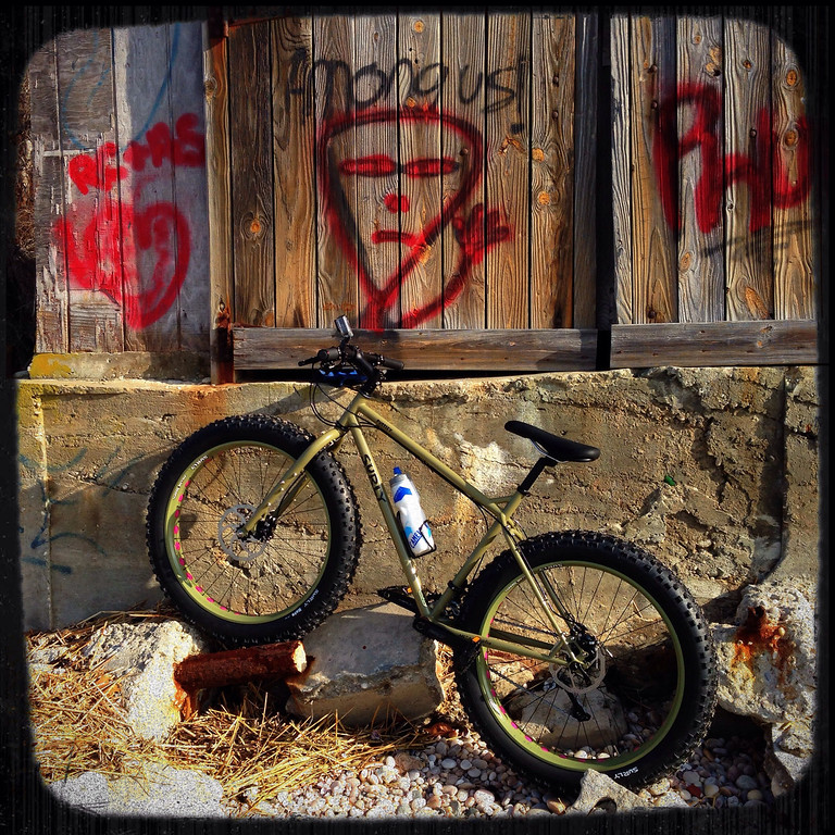 among us - graffiti with my surly fatbike