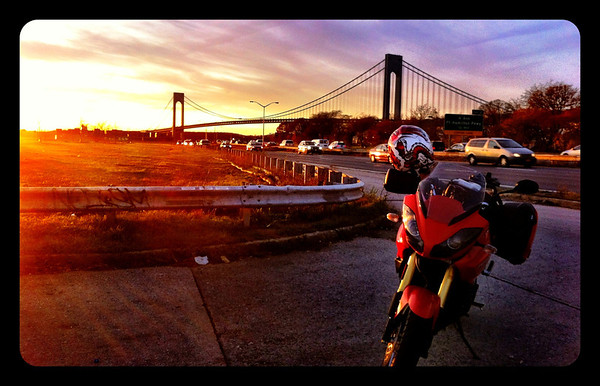 Triumph Tiger and The Verrazzano Bridge