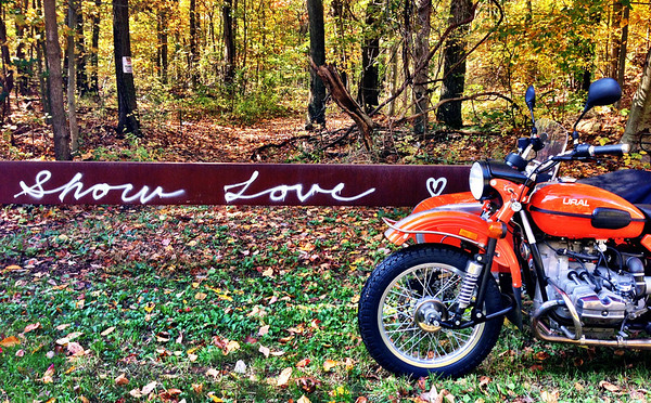 show love graffiti and the Ural Patrol