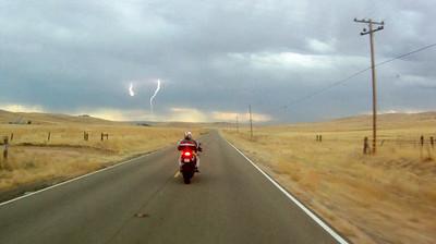 Lightning on route 58