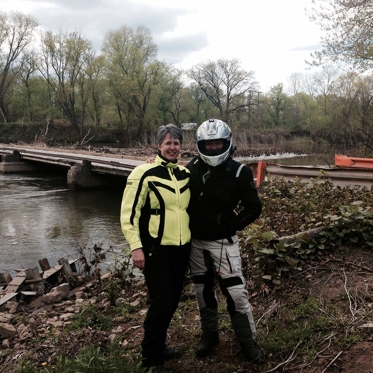 kathy and me at the low water bridge