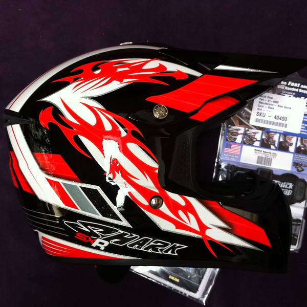 My new shark sxr offroad helmet