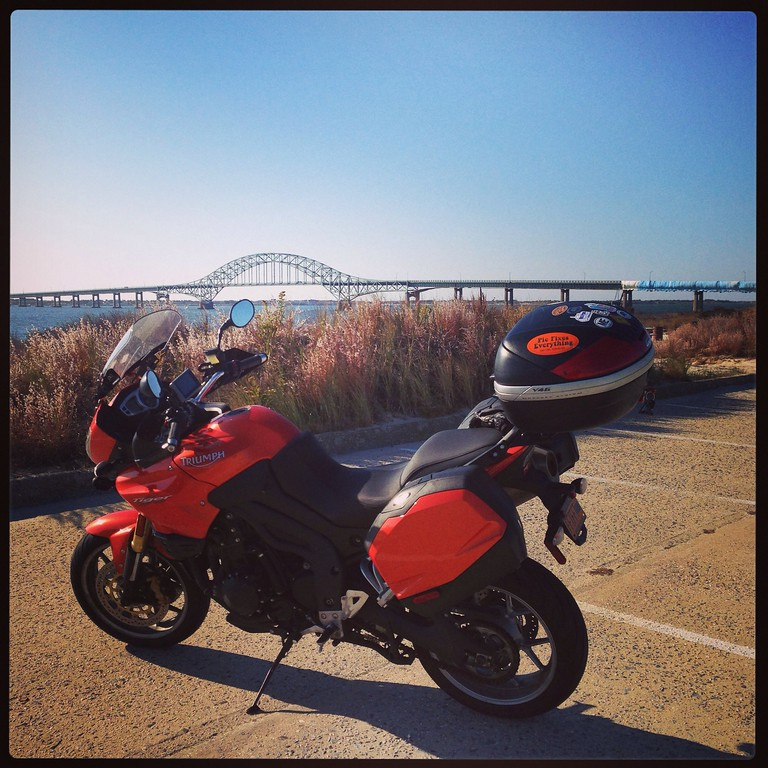 triumph tiger at captree state park