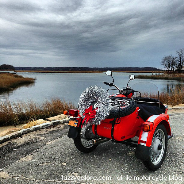 The Ural with its Christmas Wreath