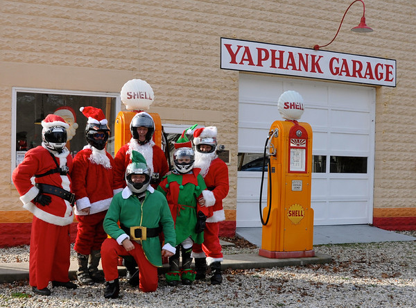 Santas at the Yaphank Garage