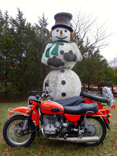 ural with mr millenium the snowman