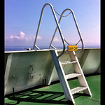 The ladder on the ferry