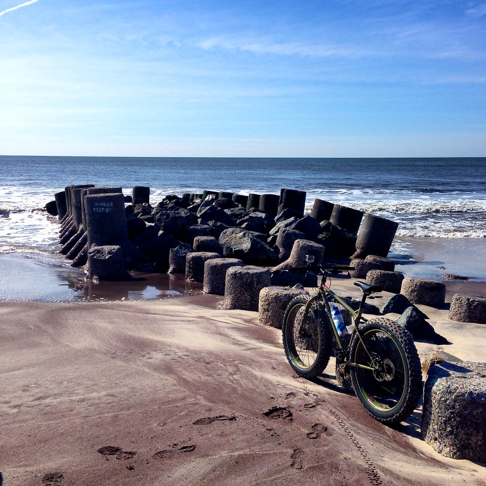 fatbike on the beach fire island
