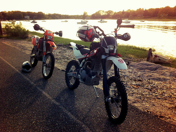 Kennys KTM and my Husky