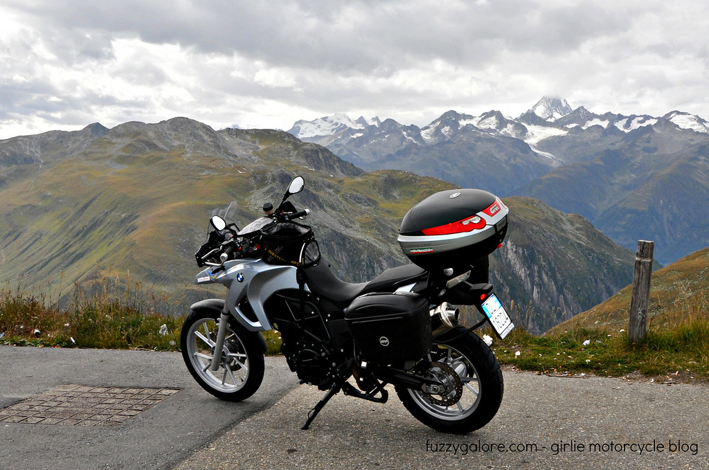 Fuzzygalore F650GS in the Alps