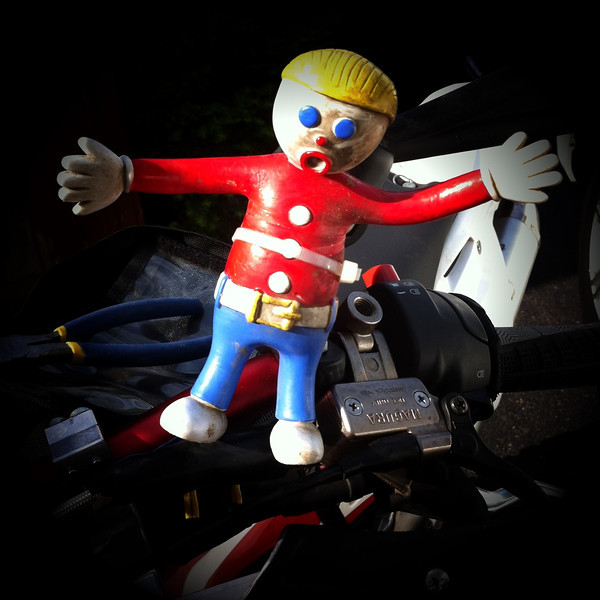 Mr Bill Mascot on my bike