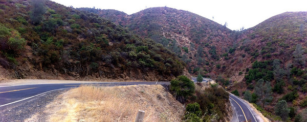Hairpin turn on route 49 california
