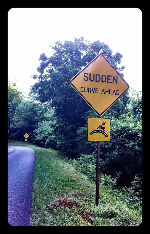 Sudden Curve Ahead Sign