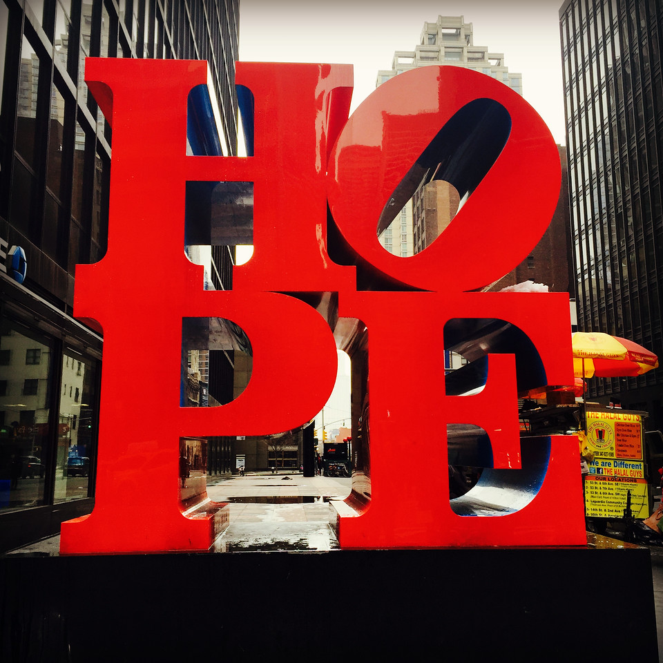 robert indiana hope on 7th and 53rd