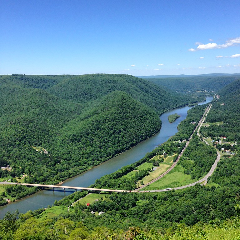 the view from hyner overlook
