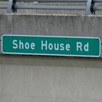 Shoe House Road Sign