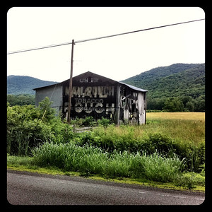Mail Pouch Tobacco Barn on West Virginia 219