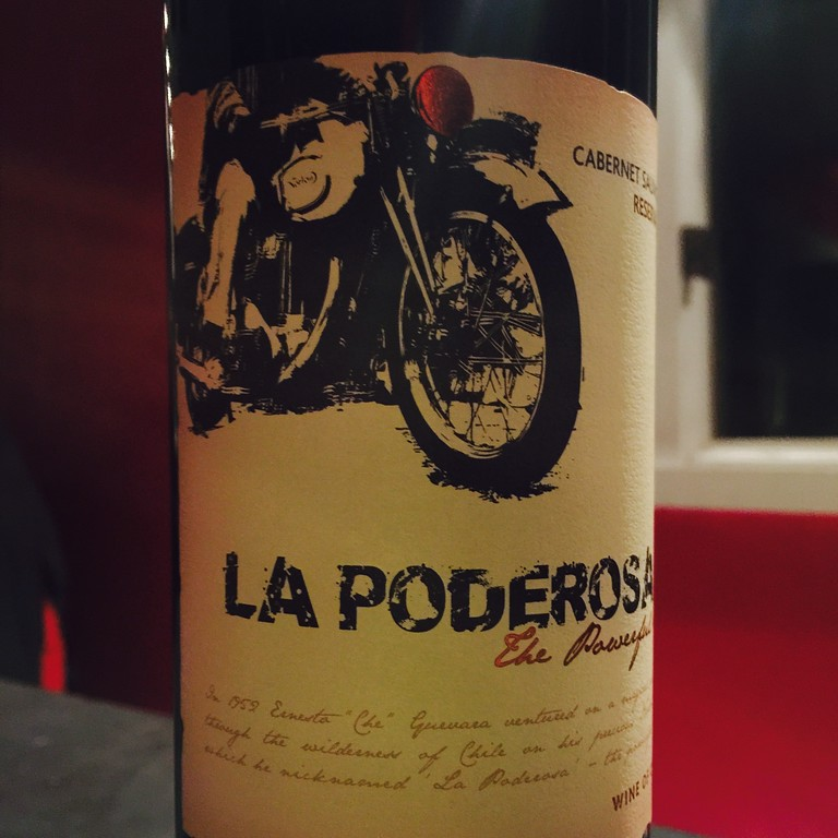 fuzzygalore motorcycle wine label