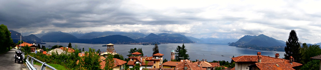 fuzzygalore the view going in to lake Maggiore italy