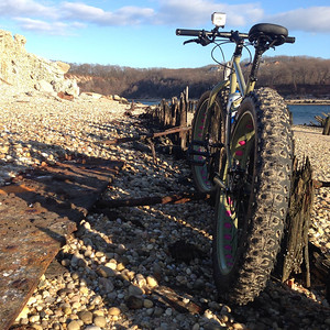 surly fatbike on the beach