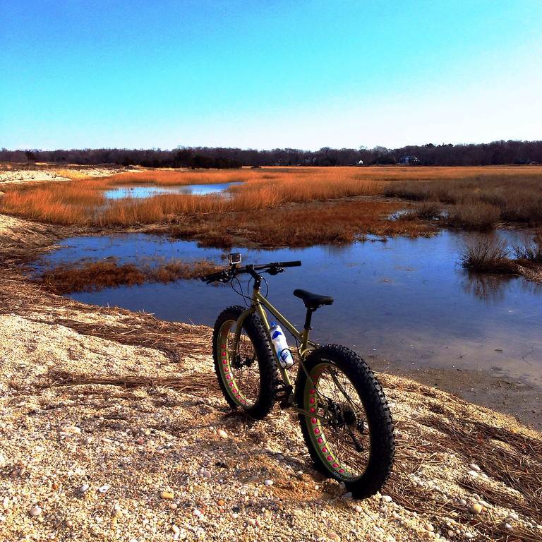 fatbike at flax pond