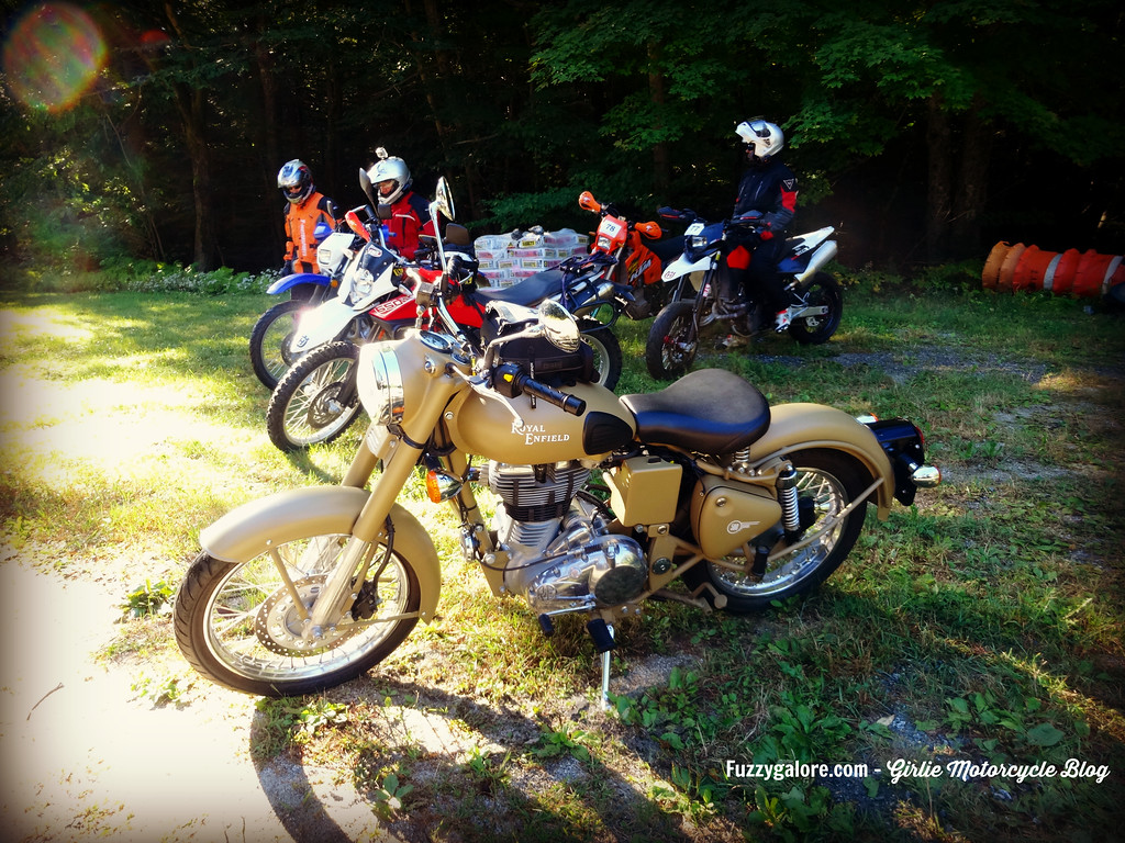 fuzzygalore royal enfield at the berkshire triple adventure ride