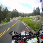 Riding in Lassen Volcanic Park
