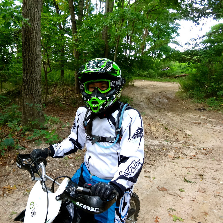 chloe on her klx110