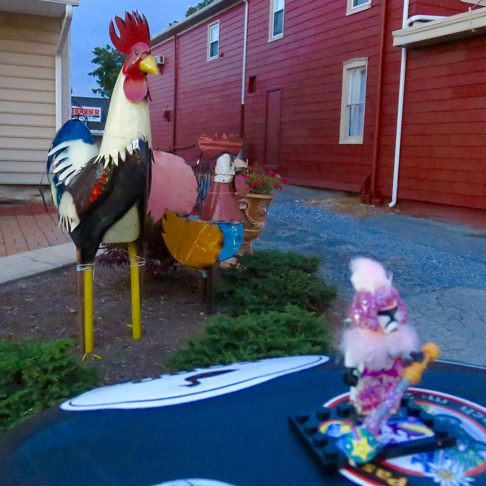 big metal rooster in pennsylvania