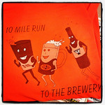 Completed the 10 Mile Run to the Brewery