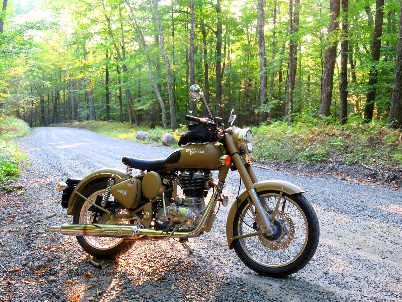fuzzygalore's royal enfield in the berkshires